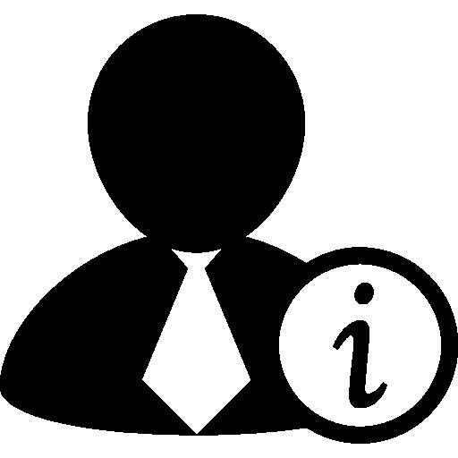 Информация о бизнесмене  бесплатно иконка