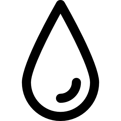 Sweat or tear drop outline  free icon