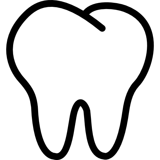 Tooth outline  free icon