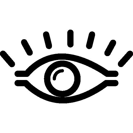 mensch öffnete das auge  kostenlos Icon