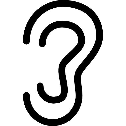 Ear outline  free icon