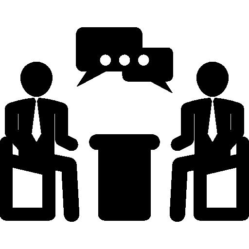 hommes d'affaires parlant en réunion d'affaires  Icône gratuit