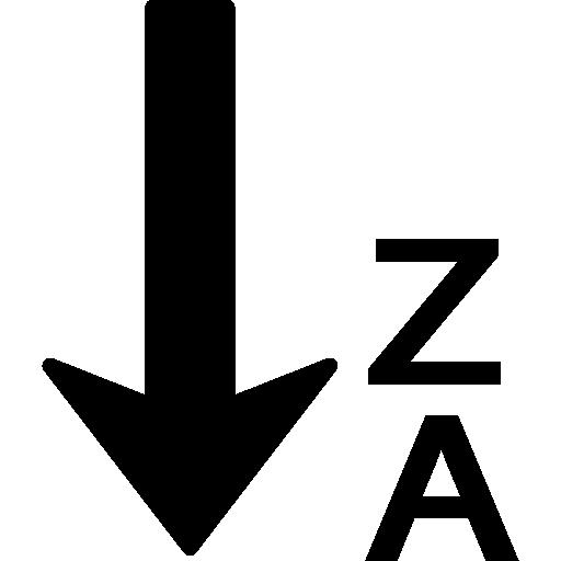 ordenar de la z a la a en orden alfabético inverso  icono gratis
