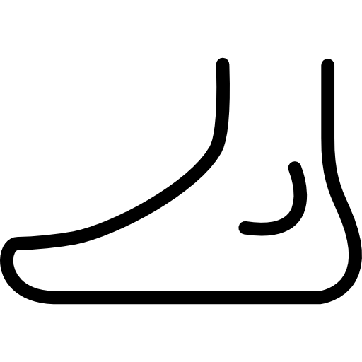 Foot side view outline  free icon