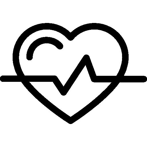 contour en forme de coeur avec variante de ligne de vie  Icône gratuit