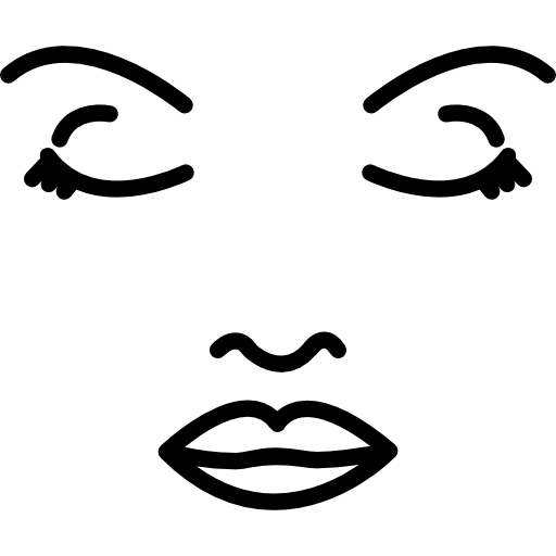 Face of a woman outline  free icon