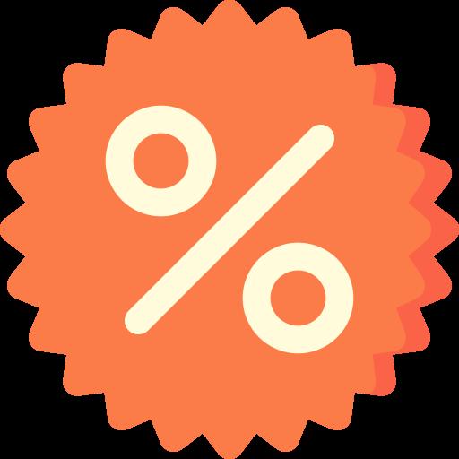 Percentage  free icon
