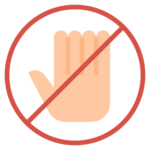 Do not touch  free icon