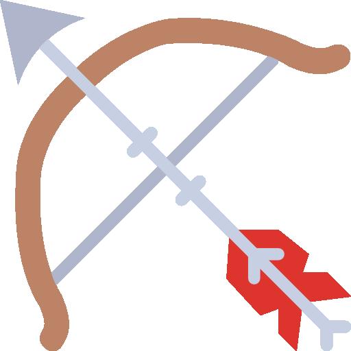 arc et des flèches  Icône gratuit