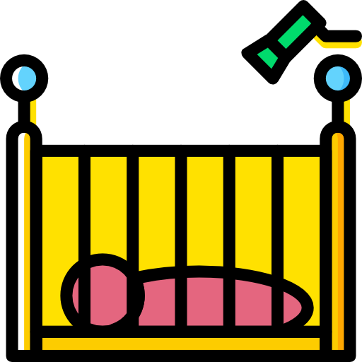 어린이 침대  무료 아이콘