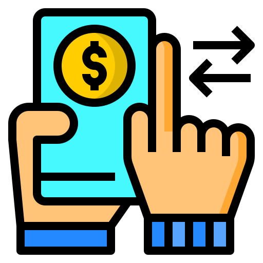 Money transfer free icon