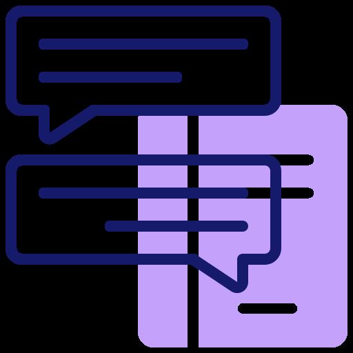 Символ диалога  бесплатно иконка