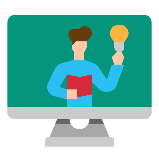 Elearning  free icon