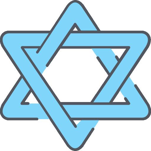 estrella de david  icono gratis