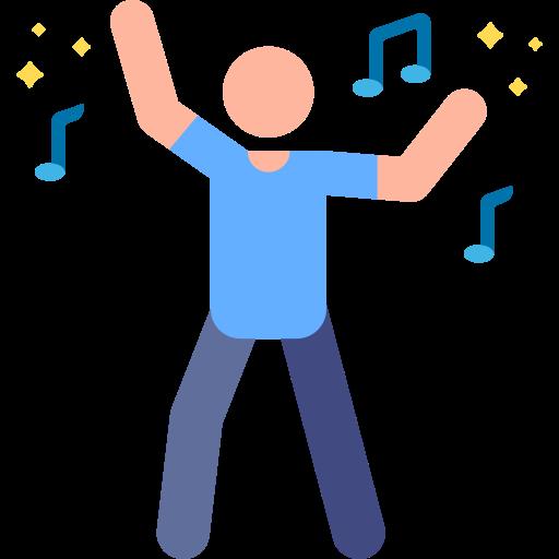 música en vivo  icono gratis