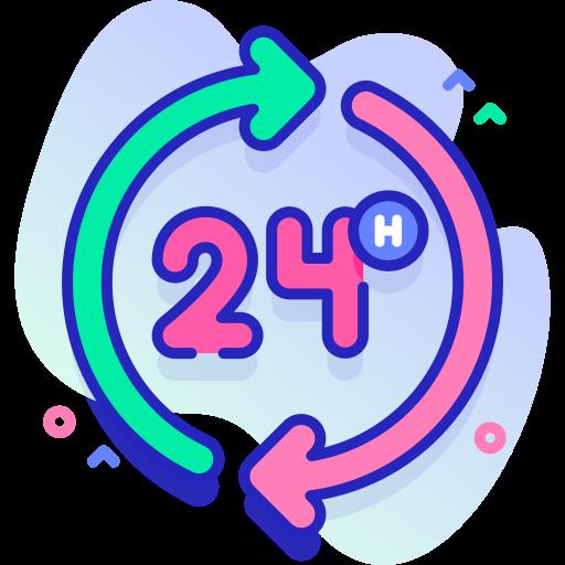 24 часа  бесплатно иконка