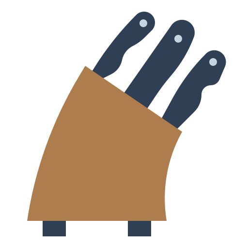 bloco de facas  grátis ícone