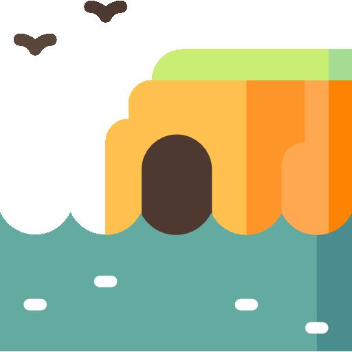 cueva marina  icono gratis