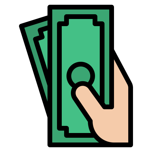 Cash payment  free icon