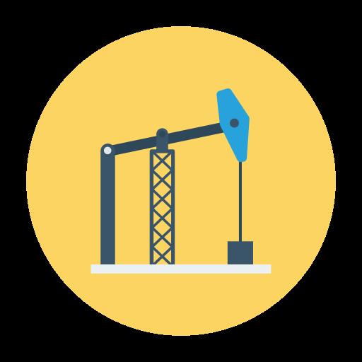 Oil mining  free icon