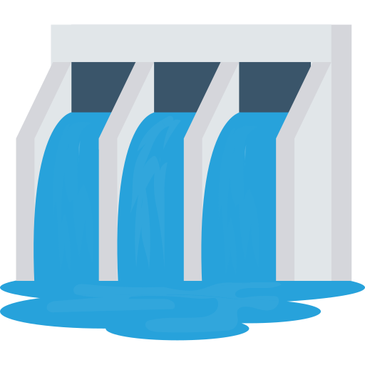 represa  icono gratis