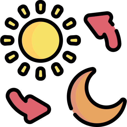 Day and night  free icon