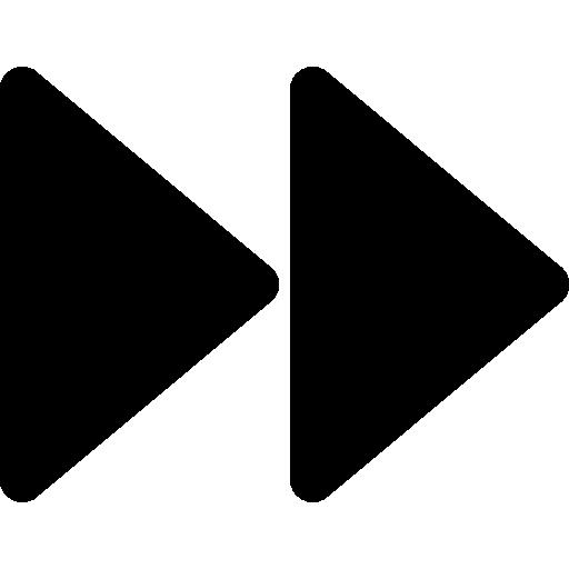 Fast forward media control button  free icon