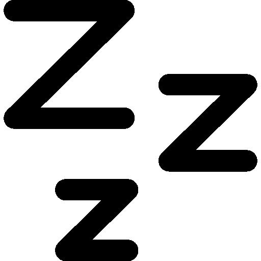 symbole de sommeil zzz  Icône gratuit