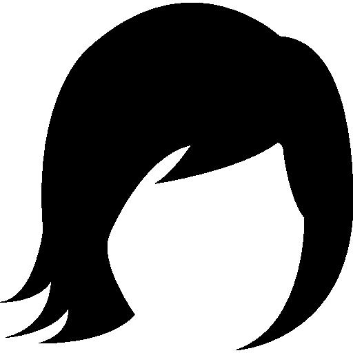 Female short hair variant  free icon
