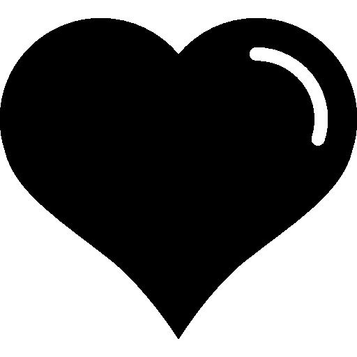 en forme de cœur avec doublure blanche  Icône gratuit
