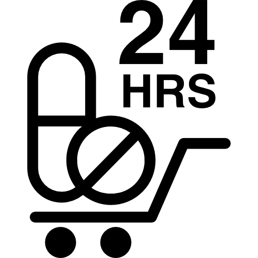 24 hours drugs delivery  free icon
