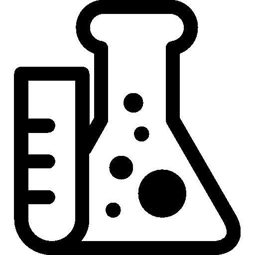 tube à essai et flacon  Icône gratuit