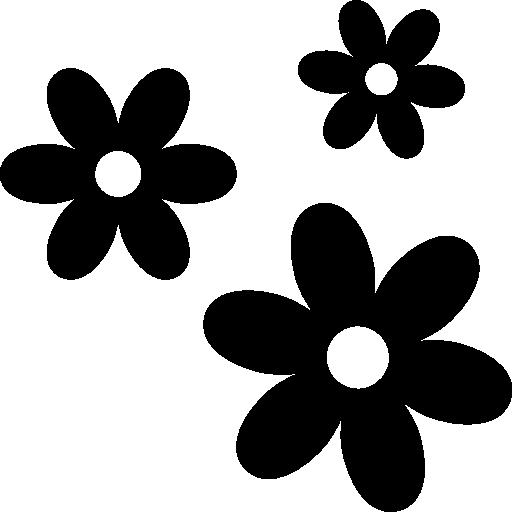 3 flores  icono gratis