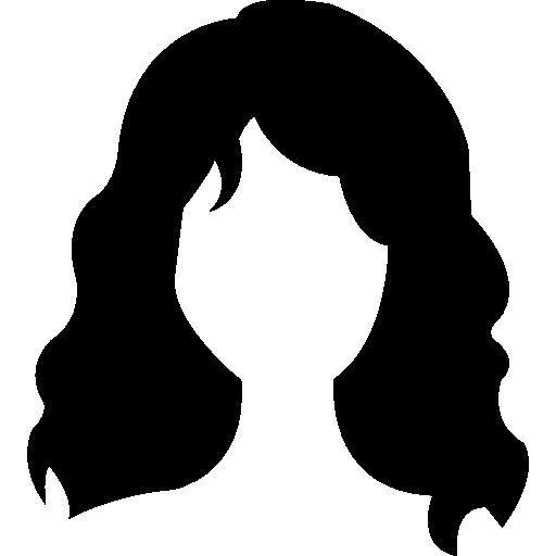 Long wavy hair variant  free icon