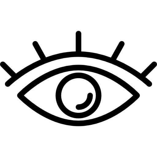 Eye outline with lashes  free icon