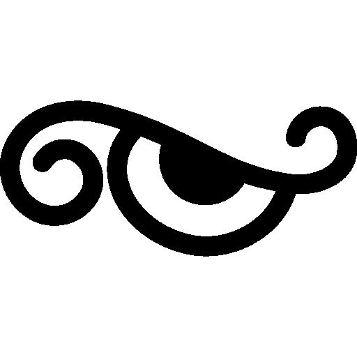 Eye cartoon design variant  free icon