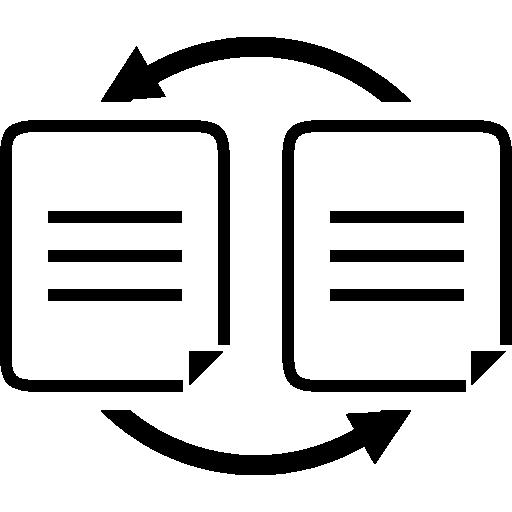 transférer des données entre des documents  Icône gratuit