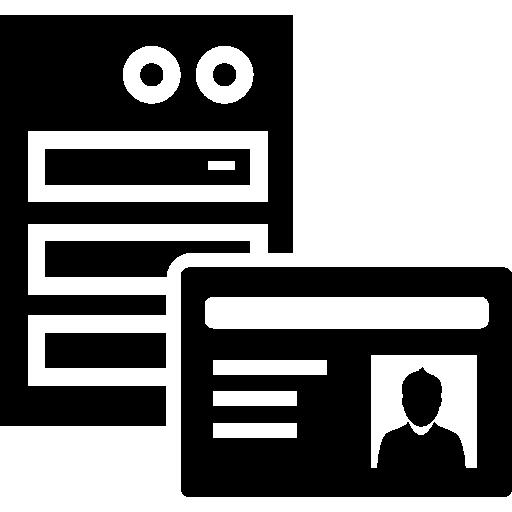 server id card  free icon