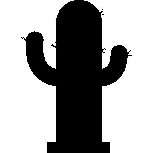 silhouette de cactus  Icône gratuit