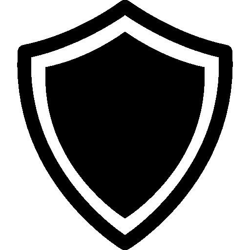 variante de bouclier avec bordures blanches et noires  Icône gratuit
