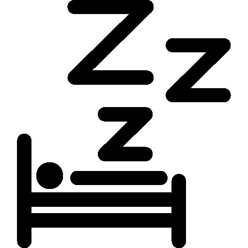 humain, dormir, lit  Icône gratuit
