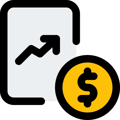 Line chart  free icon