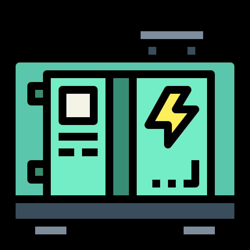 Electric generator  free icon