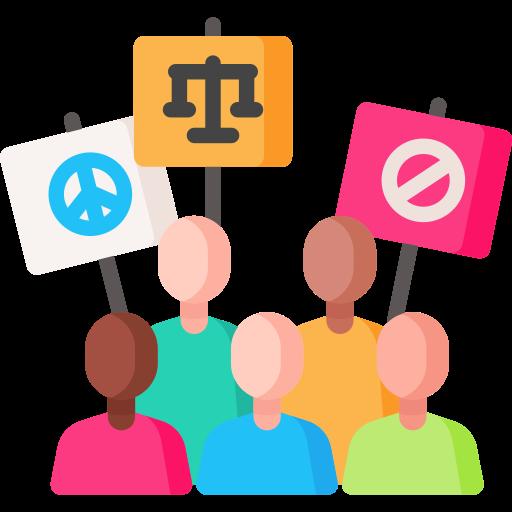 Civil right movement  free icon