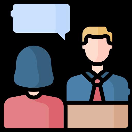 Job interview  free icon