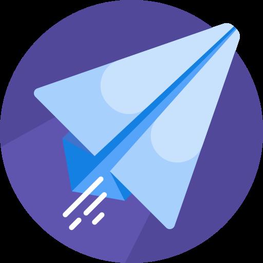 Paper plane  free icon