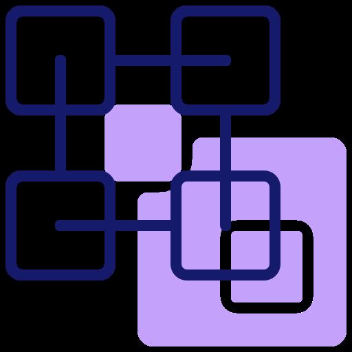 application blockchain  Icône gratuit