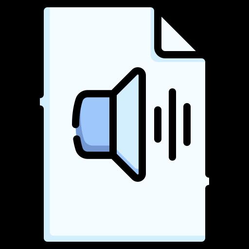 arquivo de áudio  grátis ícone