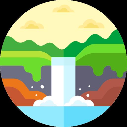 Waterfall  free icon