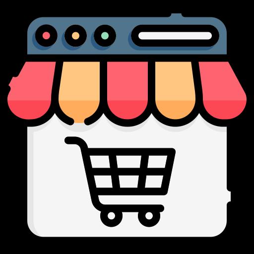 Online shop  free icon